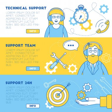 Technical support banners.