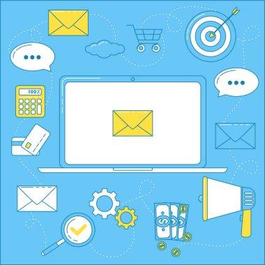 Email marketing icon set