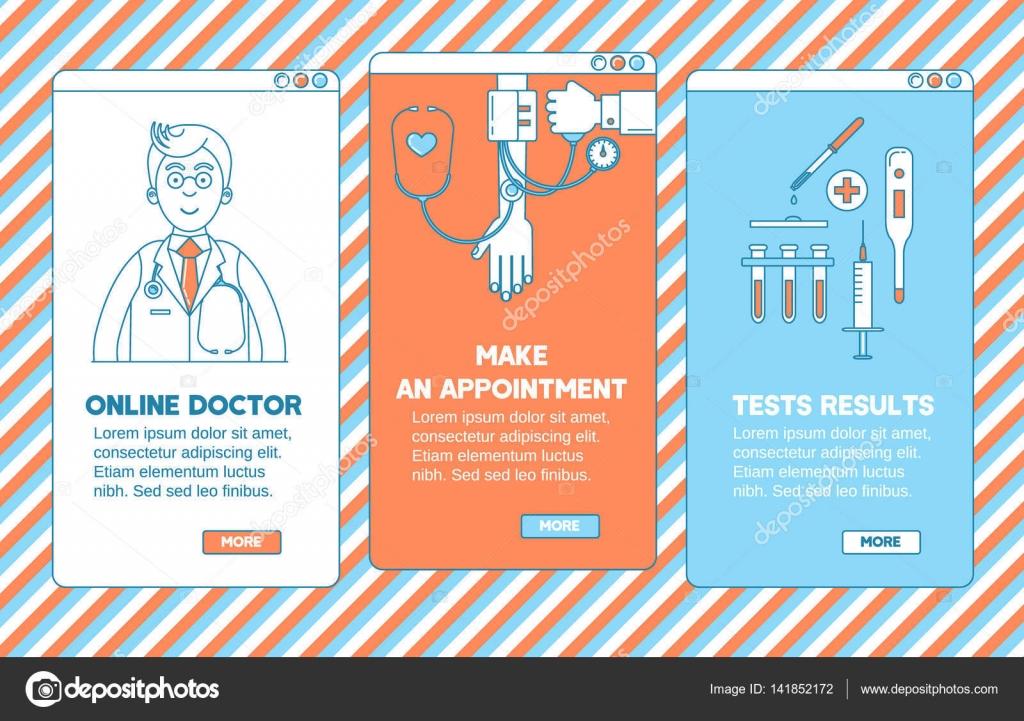 Medical app design stock vector kali13 141852172 medical app design stock vector stopboris Images