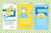 Taxi aplikace ilustrace