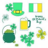 St. Patricks den barevný vzor