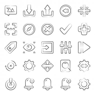 User interface customize options doodle line icons pack a vast variety of visuals regarding different fields. Editable icons use as per your project needs and feel free to grab this set! icon