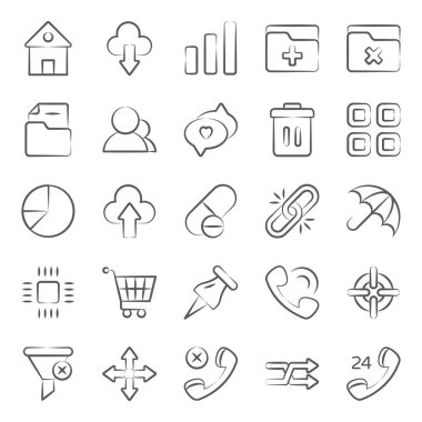 User interface technology doodle line icons pack a vast variety of visuals regarding different fields. Editable icons use as per your project needs and feel free to grab this set! icon