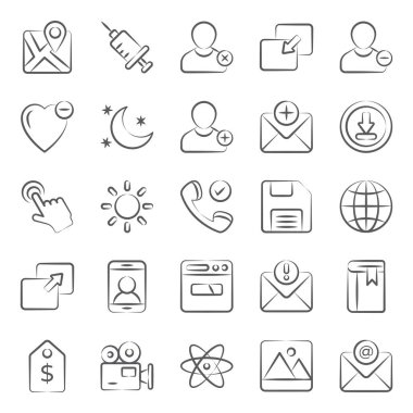Online user interface doodle line icons pack a vast variety of visuals regarding different fields. Editable icons use as per your project needs and feel free to grab this set! icon
