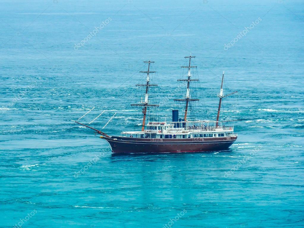 Boat in Naruto Strait