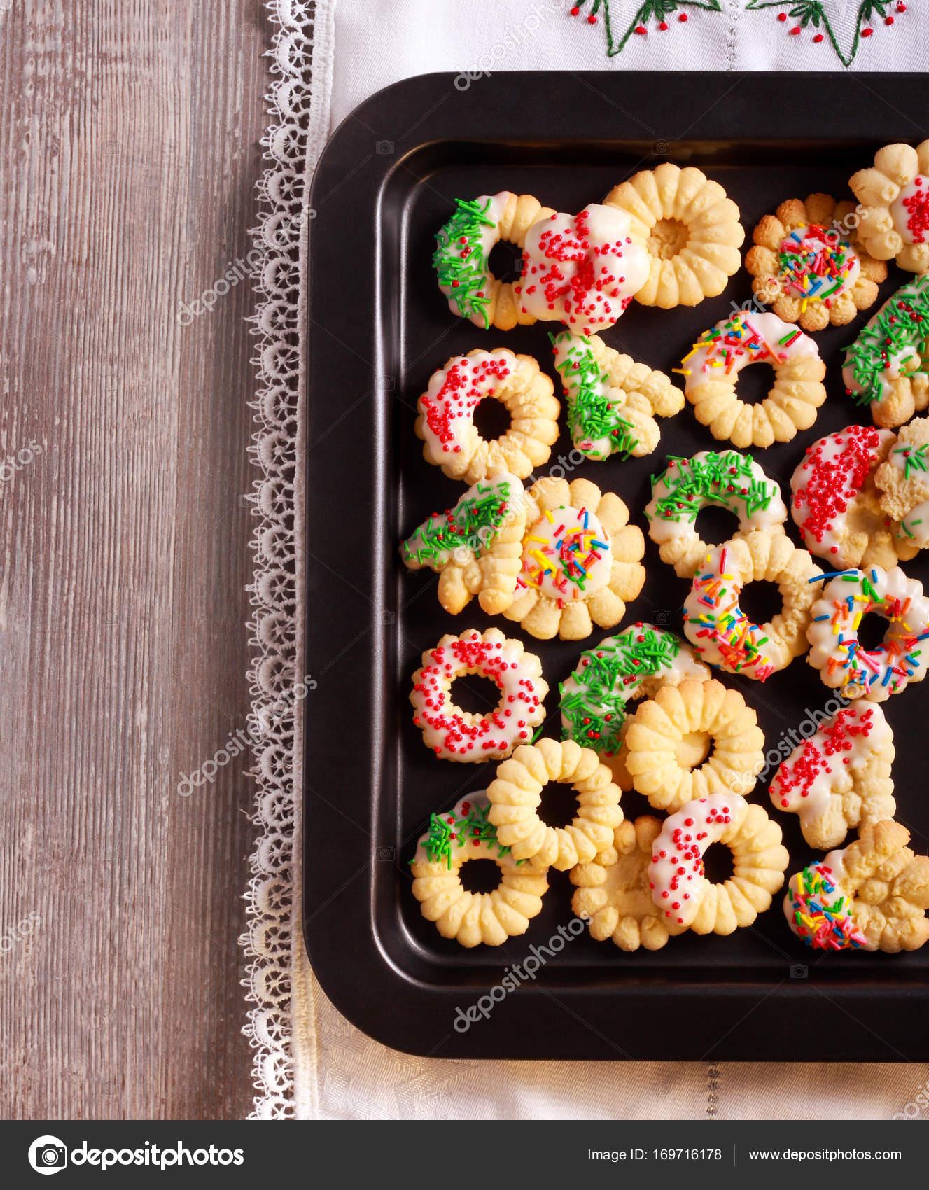 Urlaub-Spritz-Kekse mit Zuckerguss — Stockfoto © manyakotic #169716178
