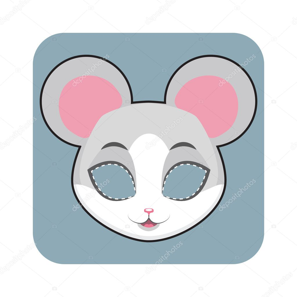 depositphotos_127284264 stock illustration mouse mask for halloween and