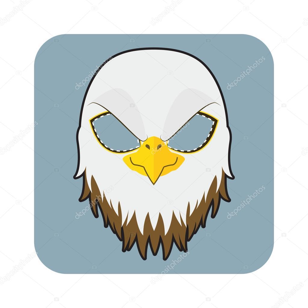 Máscara de águila para Halloween y otras fiestas — Vector de stock ...
