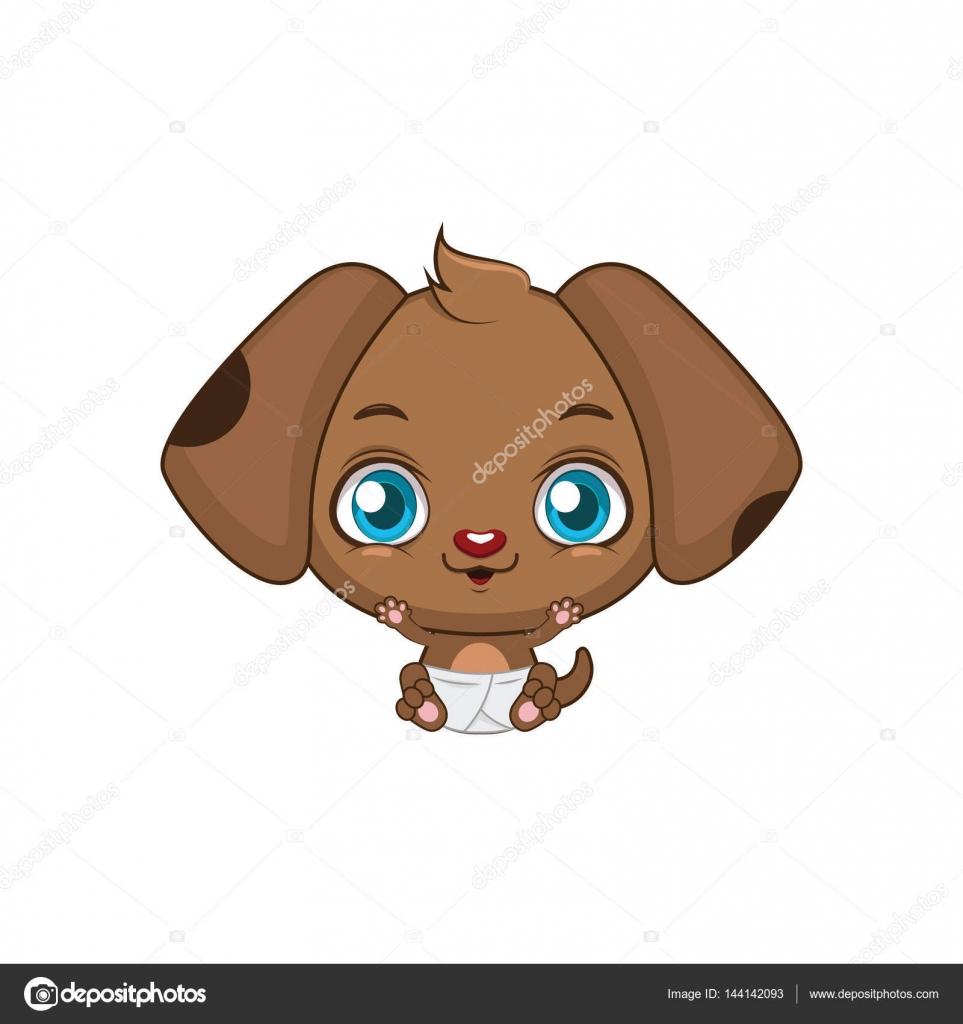 かわいい赤ちゃん犬イラスト ストックベクター Agnessz 144142093