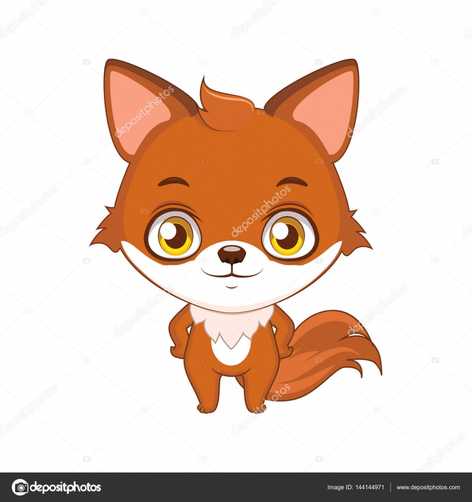 Illustrazione di volpe simpatico cartone animato