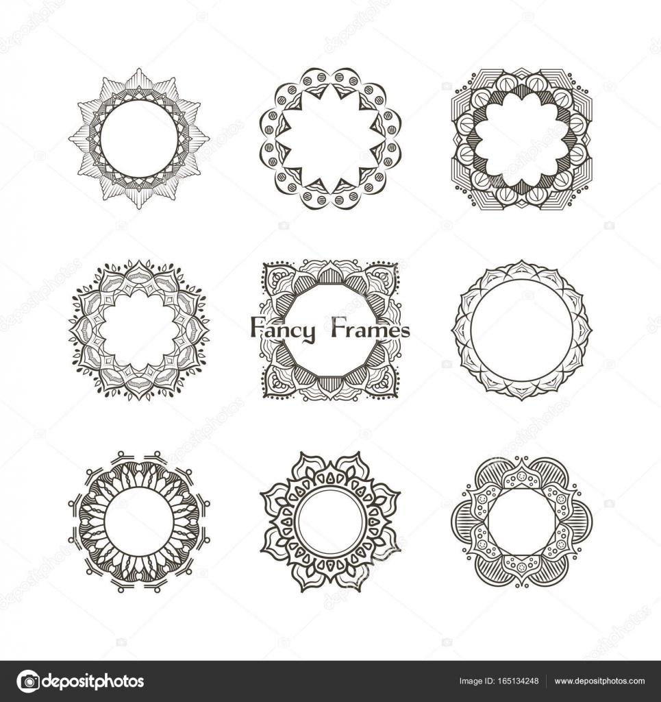 Colección de marcos de lujo — Vector de stock © AgnesSz #165134248