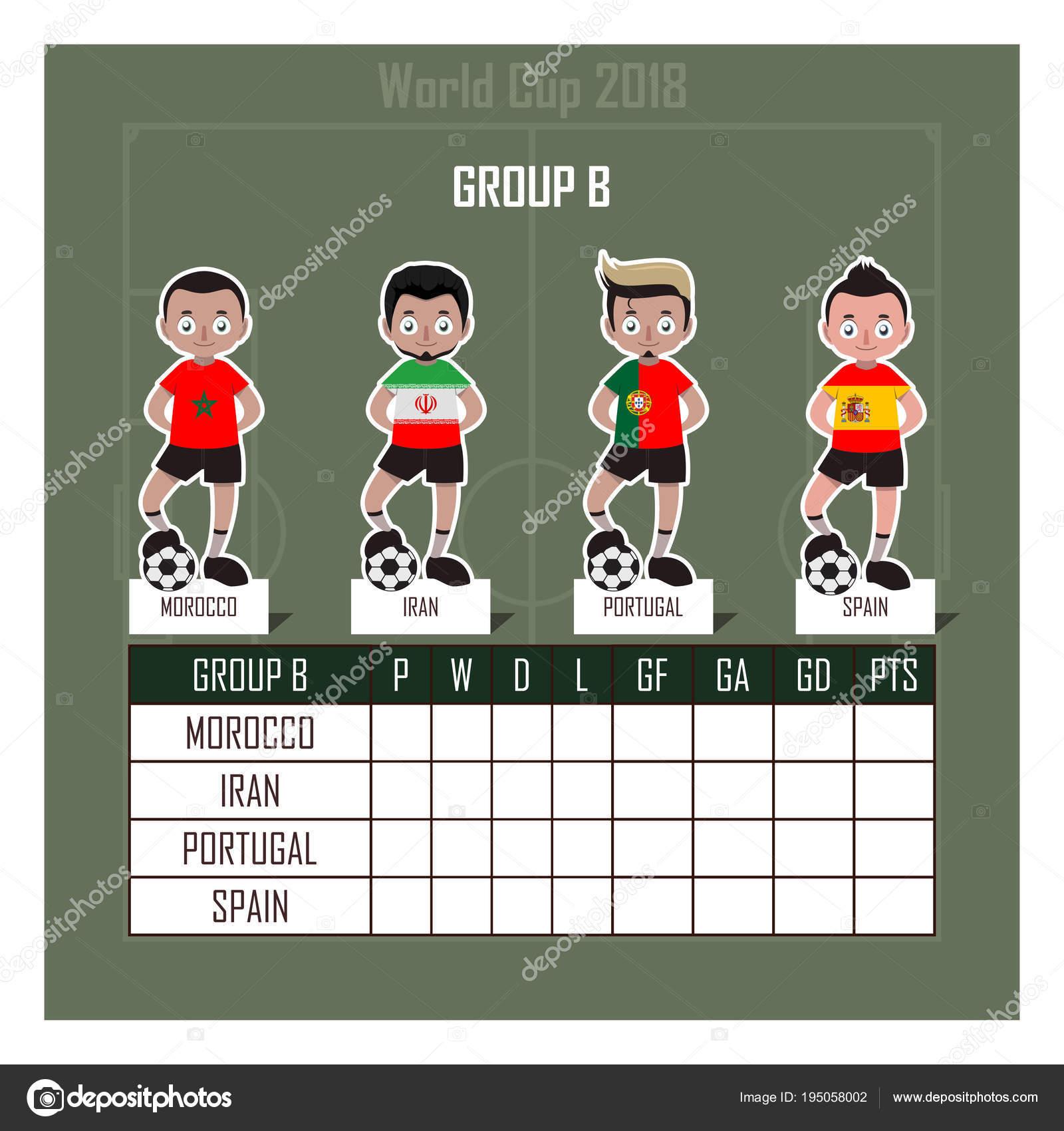 d143da0695a World Cup 2018 soccer group B — Stock Vector © AgnesSz  195058002