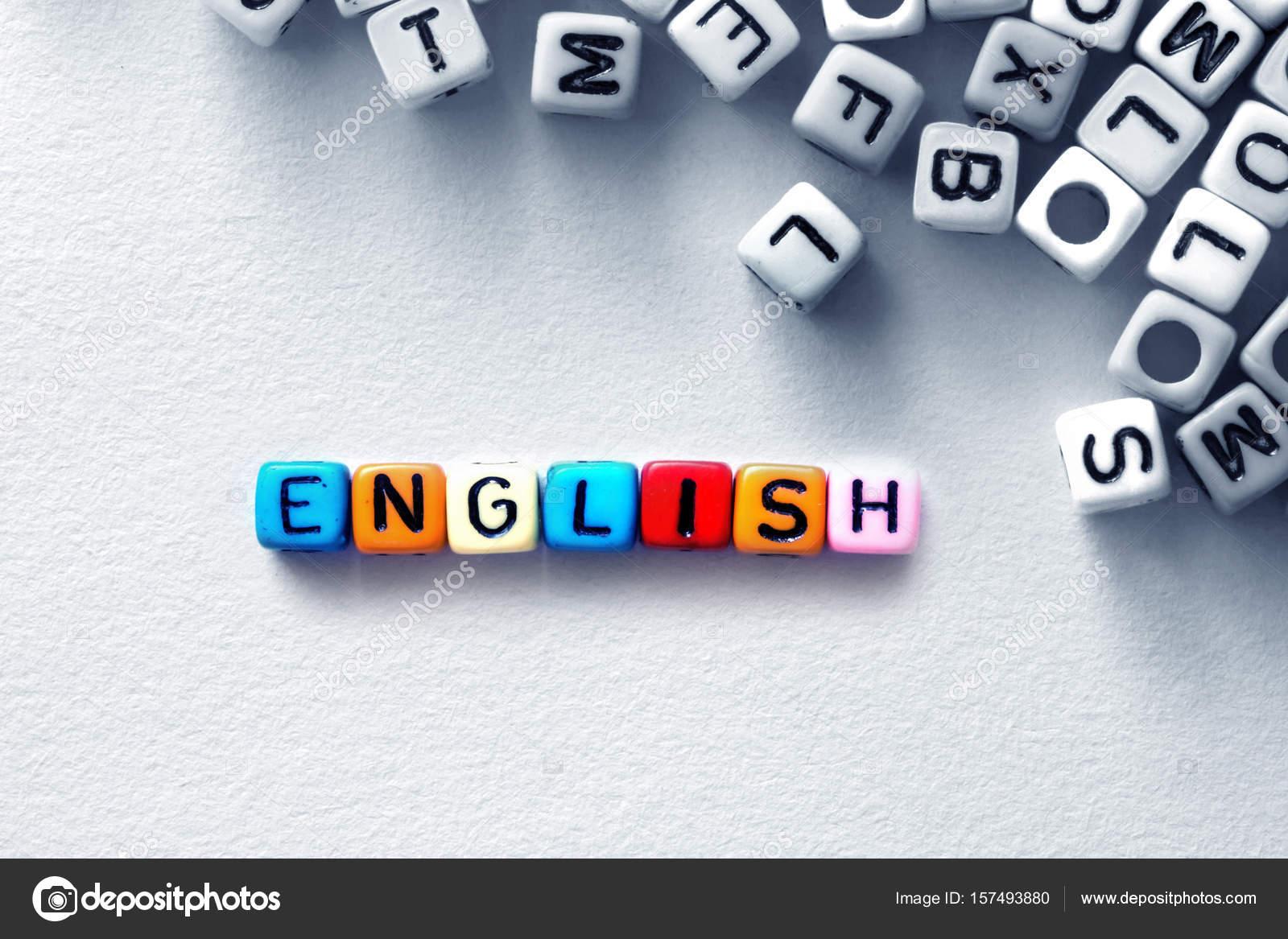 huge discount cheap sale attractive price Cube de mot anglais coloré sur fond blanc, la anglaise ...