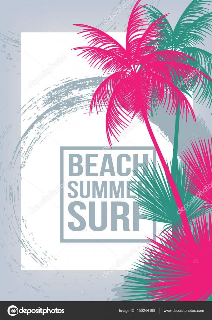 Sommer Strand Party Flyer Vorlage - Vektor-illustration ...