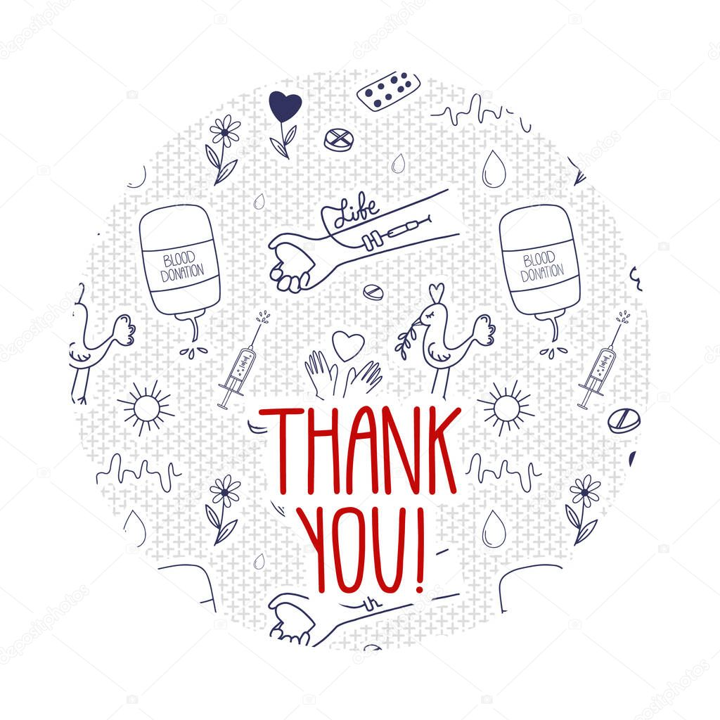 Doodle Thank you page website template icon