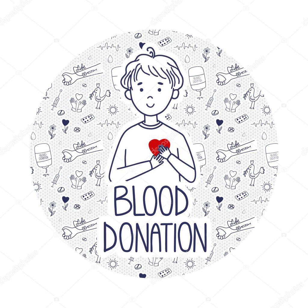 Vector Blood Donation page for donors website icon