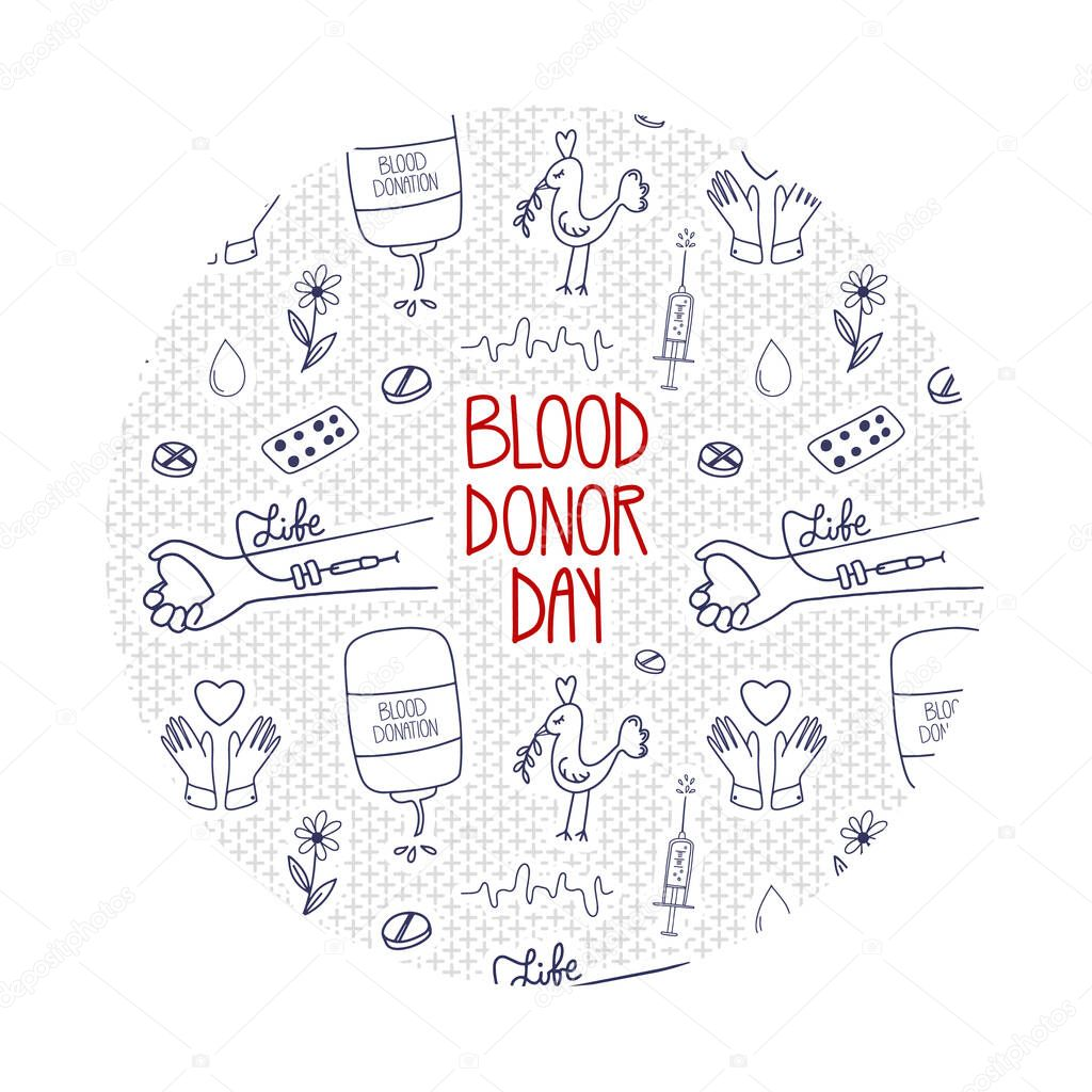 Vector World blood donor day icon