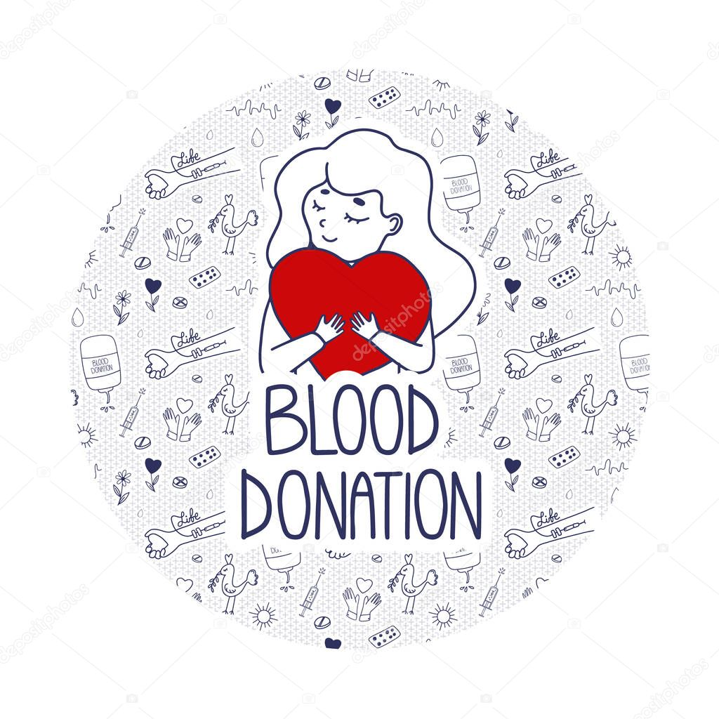 Vector Blood Donation page template for donors website icon