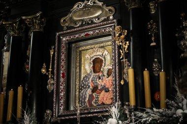 Czestochowa , Poland - 21 January 2020: Jasna Gora Monastery: the Wonderful Image of the Black Madonna of Czestochowa (Our Lady of Czestochowa)