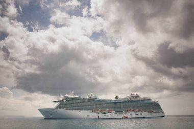 Cruise ship in the open ocean
