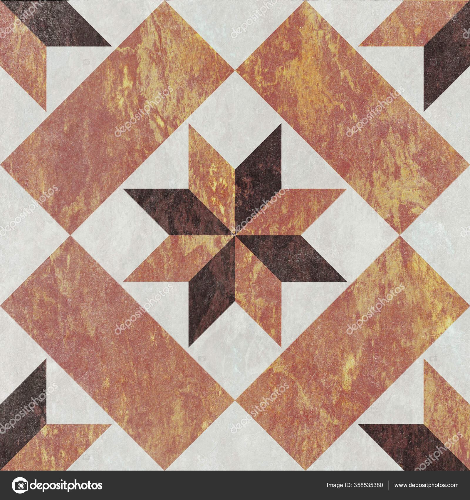 Geometric pattern flower shape floor and wall marble decor tile 25