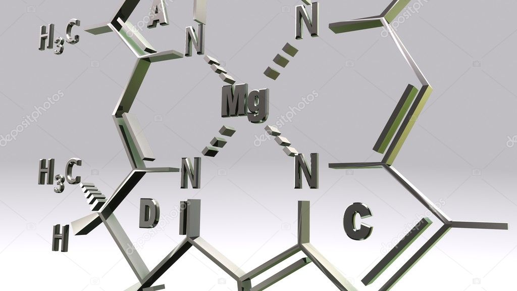 Chlorophyll D molecular structure formula