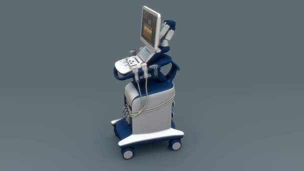 Heart Echo cardiogram machine.
