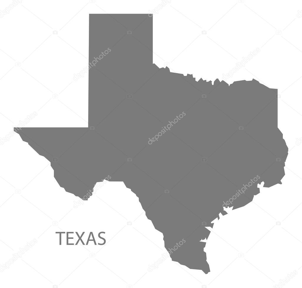 Texas-Usa-Karte grau — Stockvektor © ingomenhard #126835080