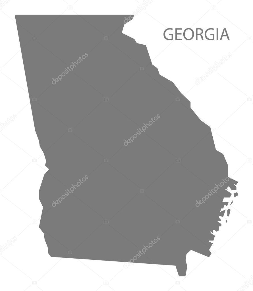 Georgia USA Map Grey Stock Vector Ingomenhard - Georgia usa map