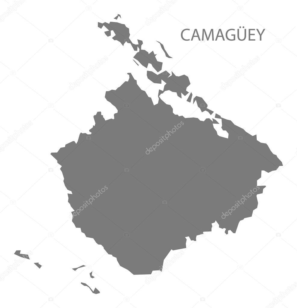 Camaguey Cuba Map grey Stock Vector ingomenhard 127427376