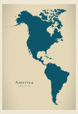 Modern Map - America complete map