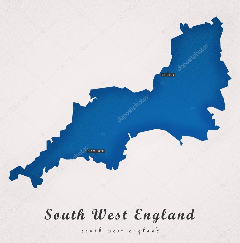 Zuidwest Engeland Uk Art Kaart Stock Photo C Ingomenhard 129222950