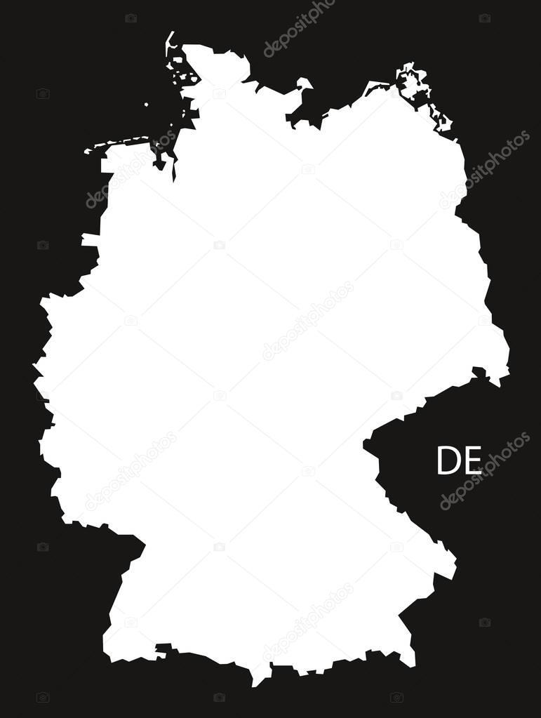 deutschland karte schwarz wei stockvektor ingomenhard 129417644. Black Bedroom Furniture Sets. Home Design Ideas