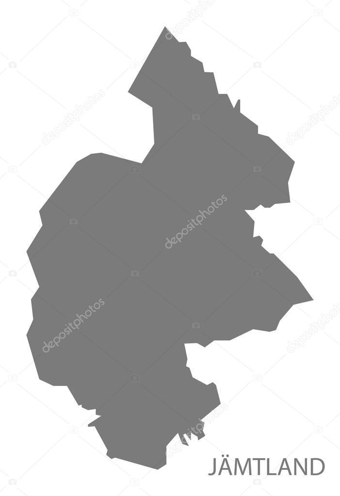 Jamtland Sweden Map Grey Stock Vector Ingomenhard - Jamtland sweden map
