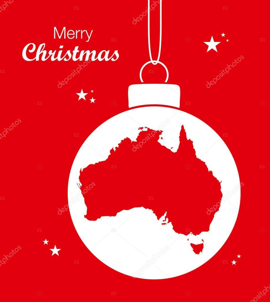 Carte Noel Australie.Joyeux Noel Carte Australie Image Vectorielle Ingomenhard