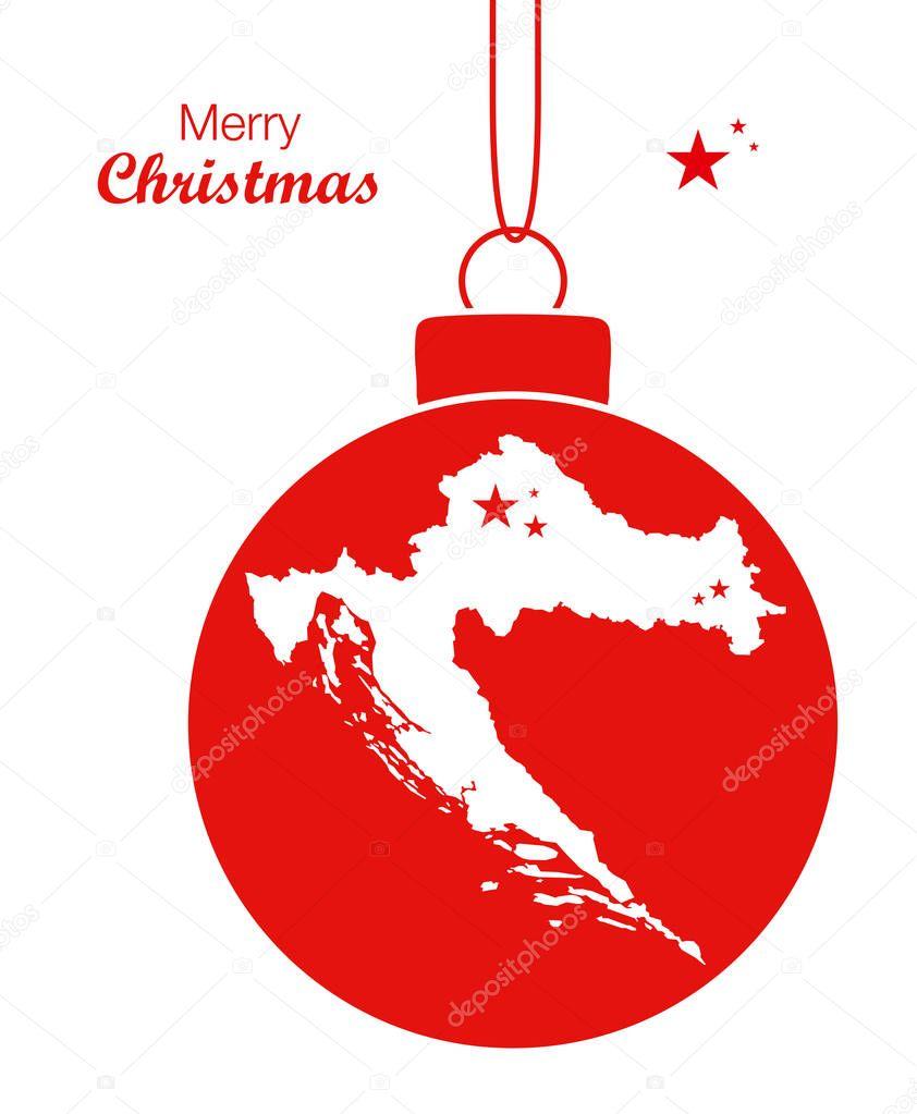 Weihnachten In Kroatien.Frohe Weihnachten Karte Kroatien Stockvektor Ingomenhard 130265140