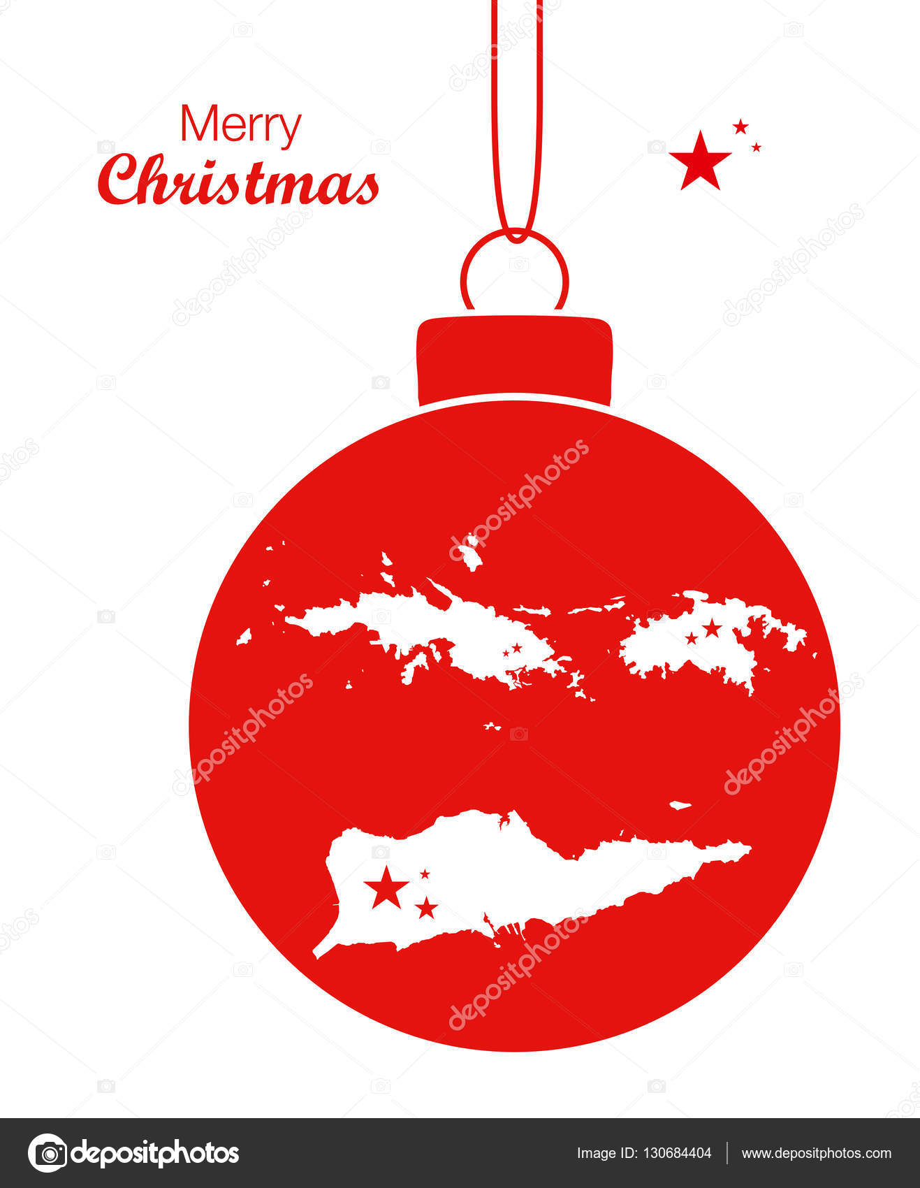 Merry Christmas illustration theme with map of US Virgin Islands ...