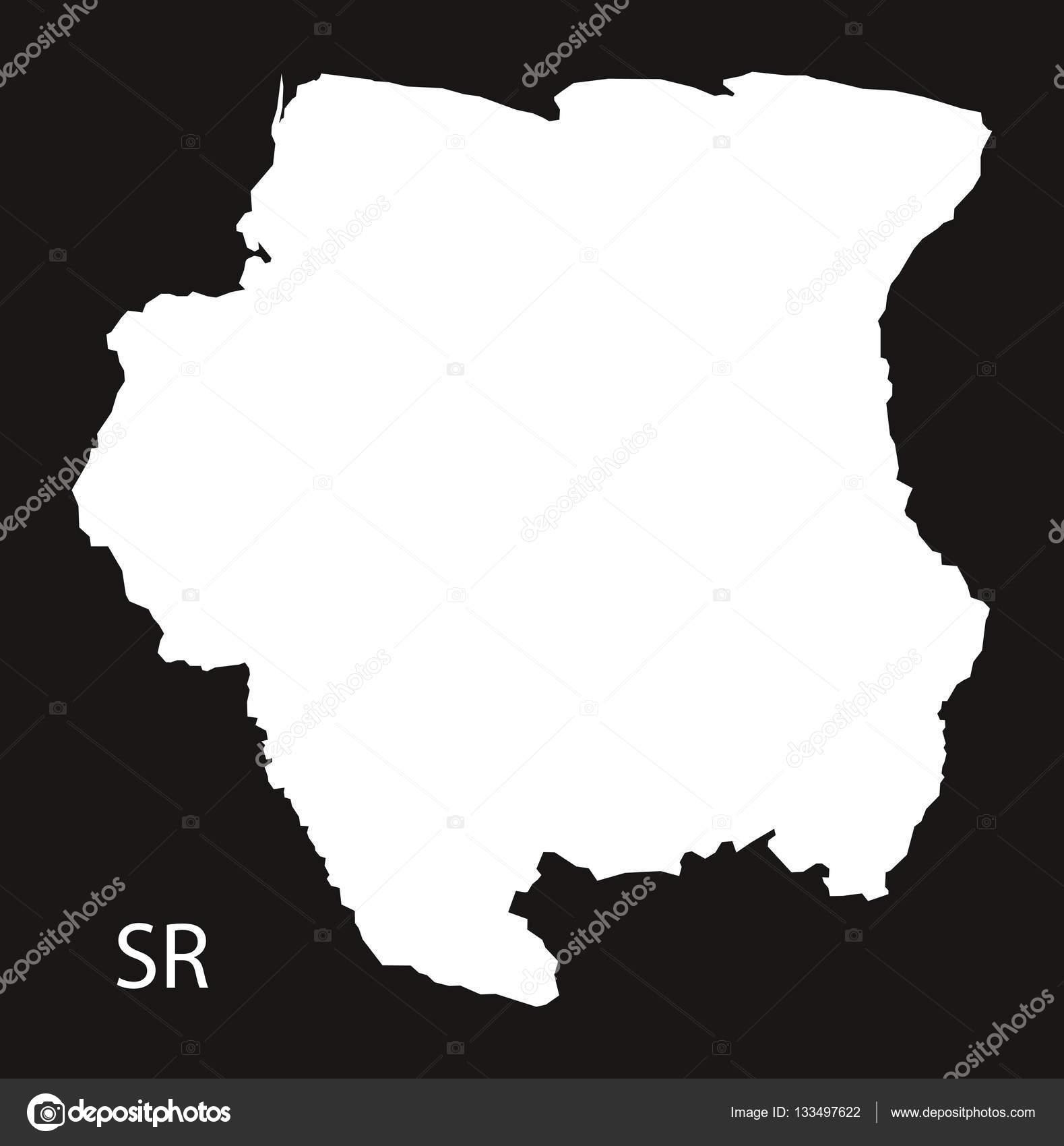 Suriname Map black Stock Vector ingomenhard 133497622