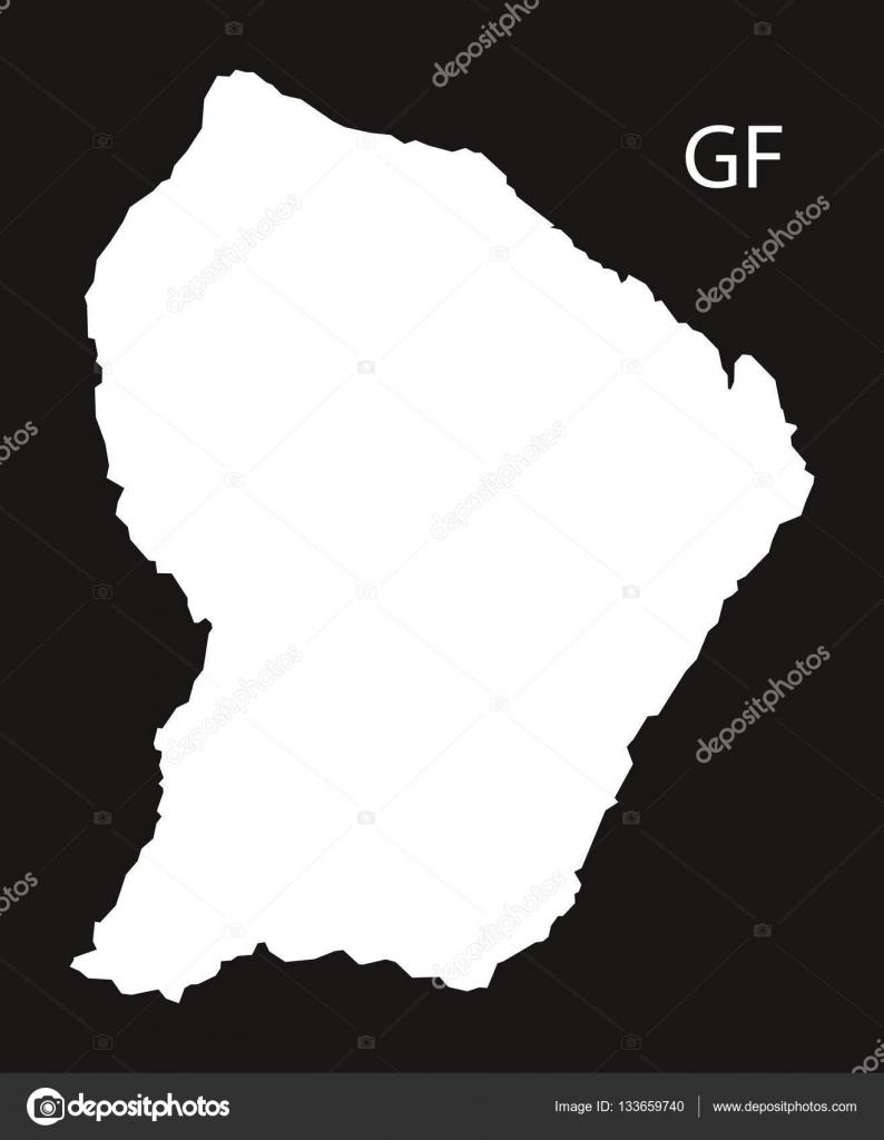 Cartina Della Francia In Bianco E Nero.Vettore Cartina Della Francia In Bianco E Nero Mappa Di