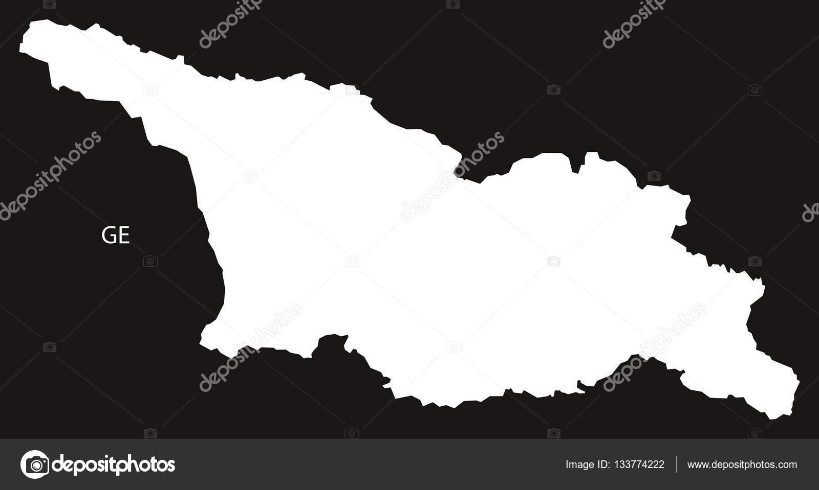 Georgia Map Black And White Stock Vector C Ingomenhard 133774222
