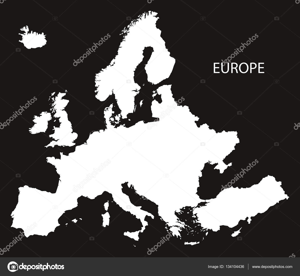 Europa Terkep Fekete Feher Marlpoint