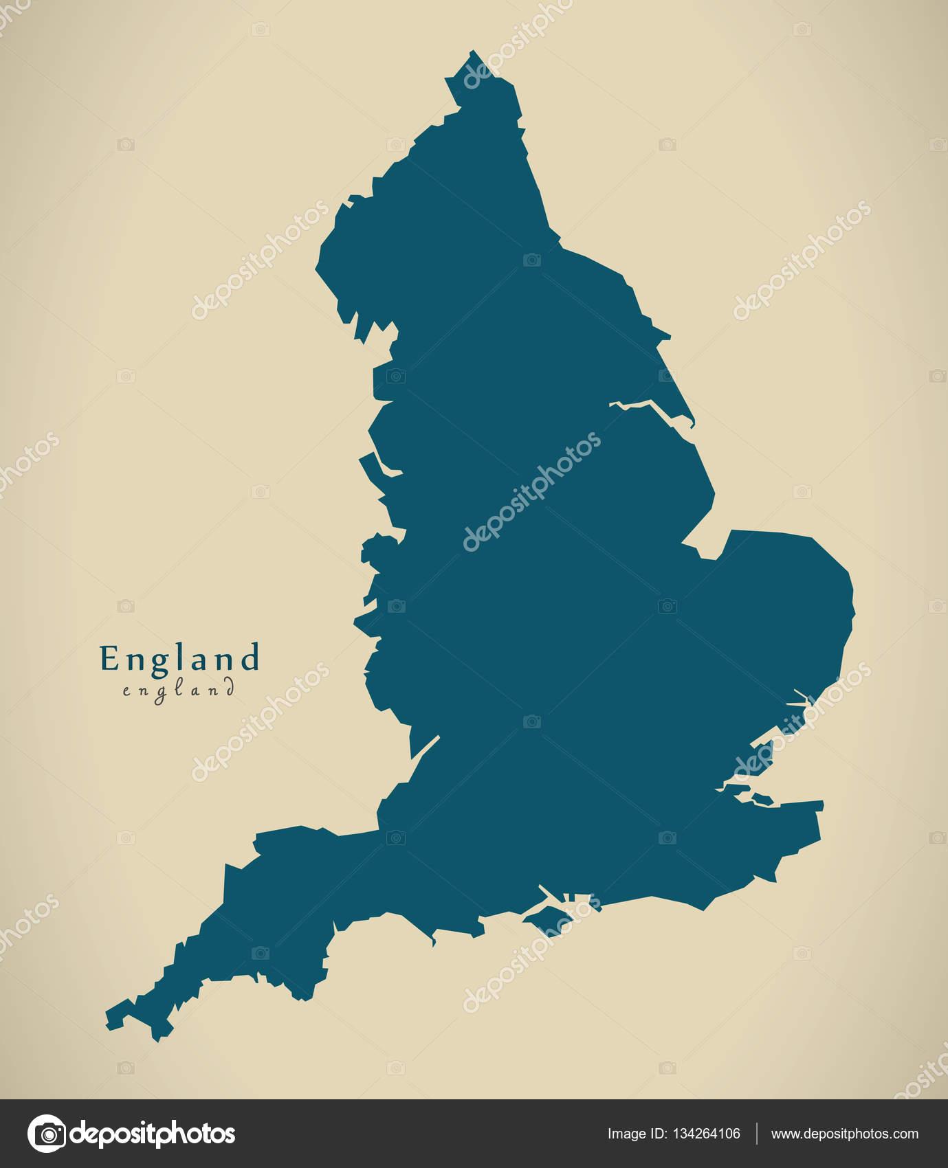 Karte Uk.Moderne Karte England Uk Stockfoto C Ingomenhard 134264106