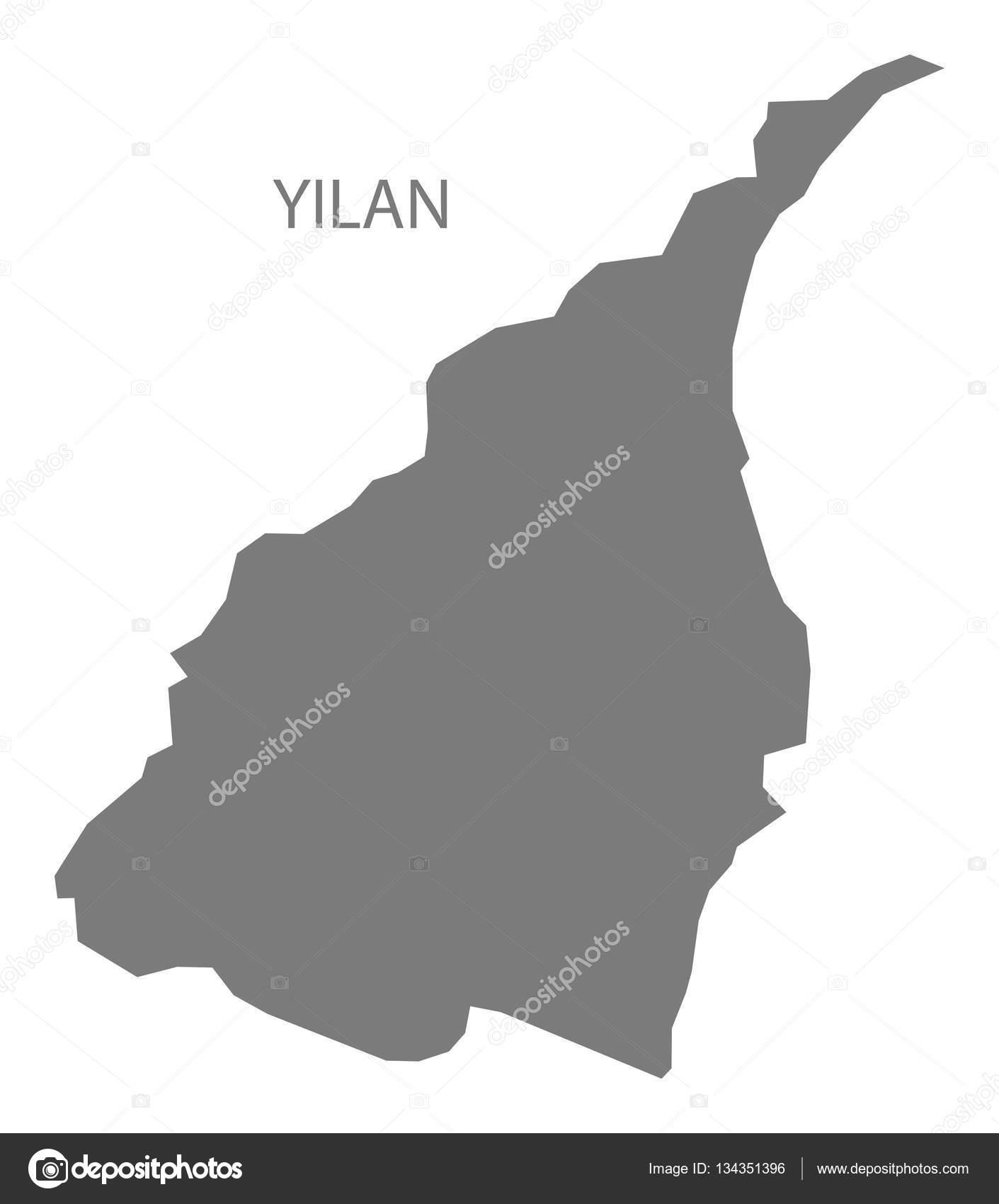 宜蘭県台湾地図グレー — ストッ...