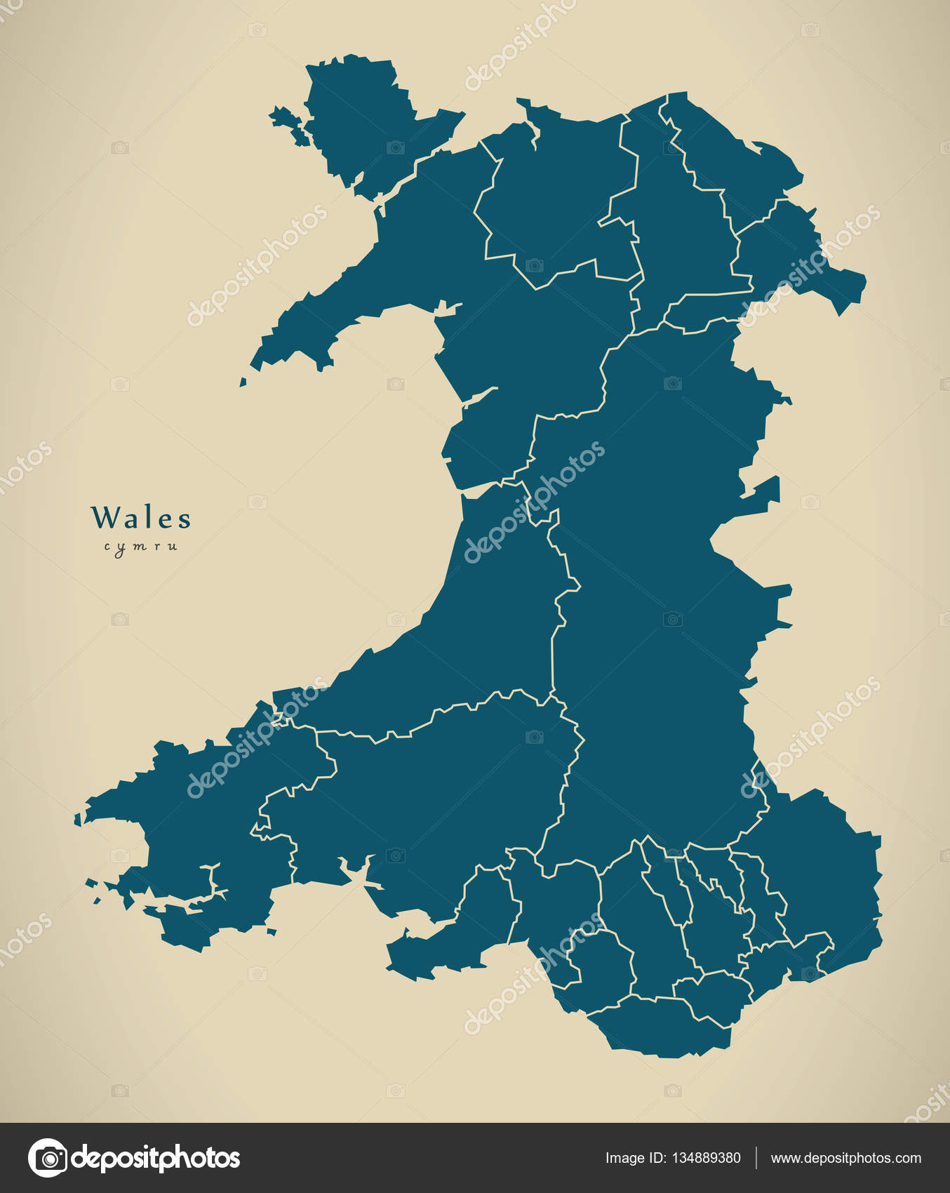 Modern map wales with regions uk fotos de stock ingomenhard modern map wales with regions uk fotos de stock gumiabroncs Image collections