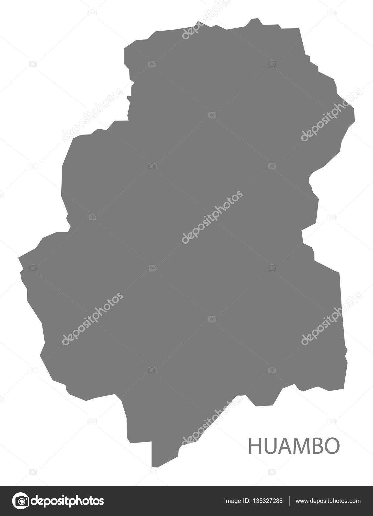Huambo Angola Map grey Stock Vector ingomenhard 135327288