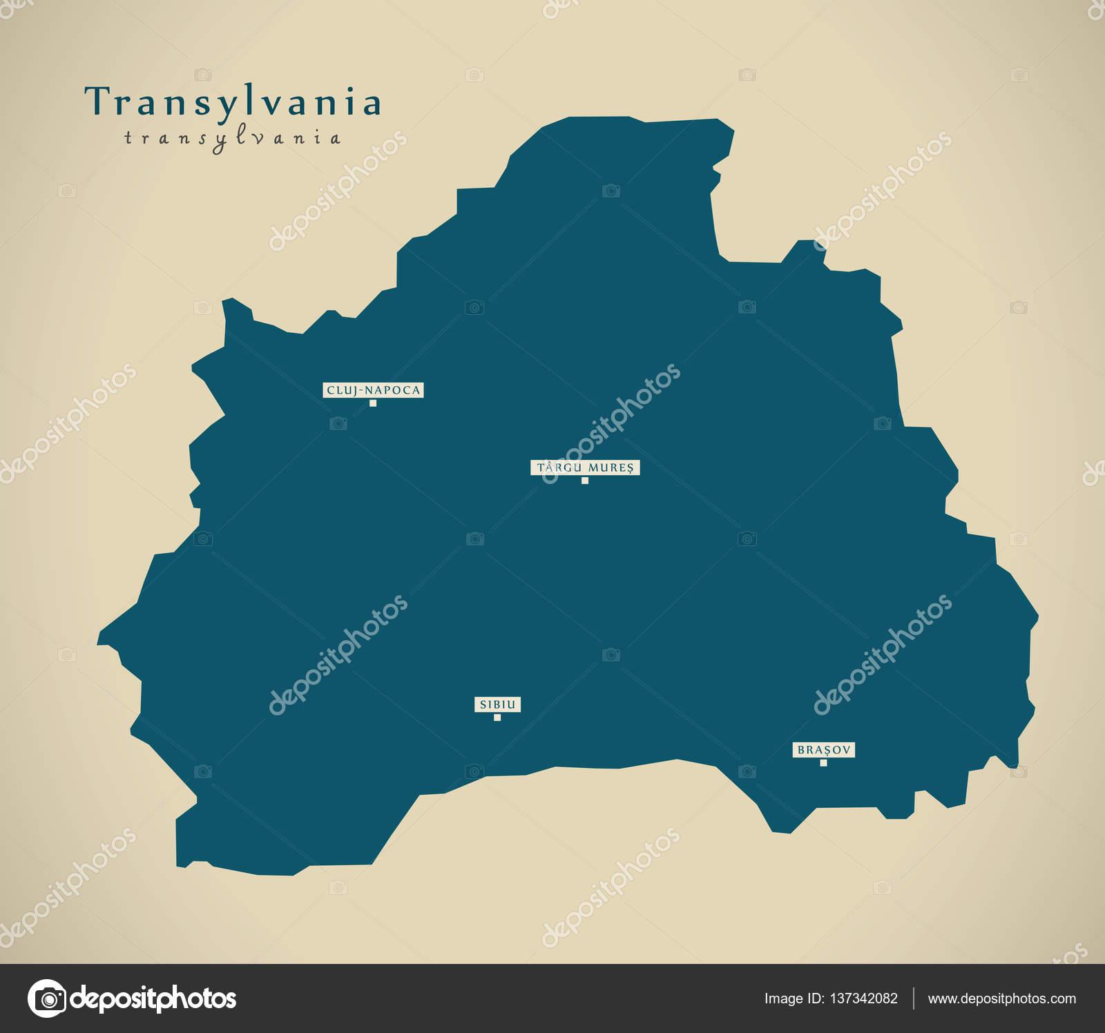 transsilvanien karte Moderne Karte   Transsilvanien Rumänien Ro — Stockfoto  transsilvanien karte