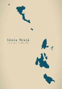 Modern Map - Ionia Nisia Greece GR