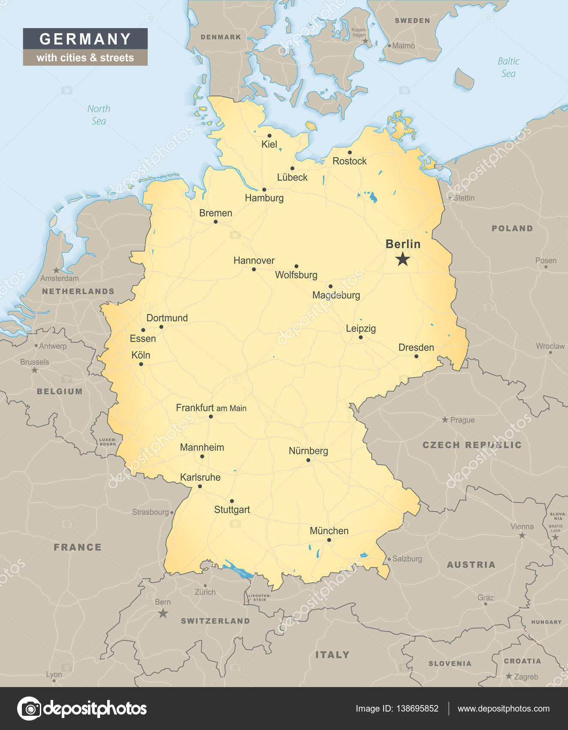 Tyskland Karta Stader Karta 2020