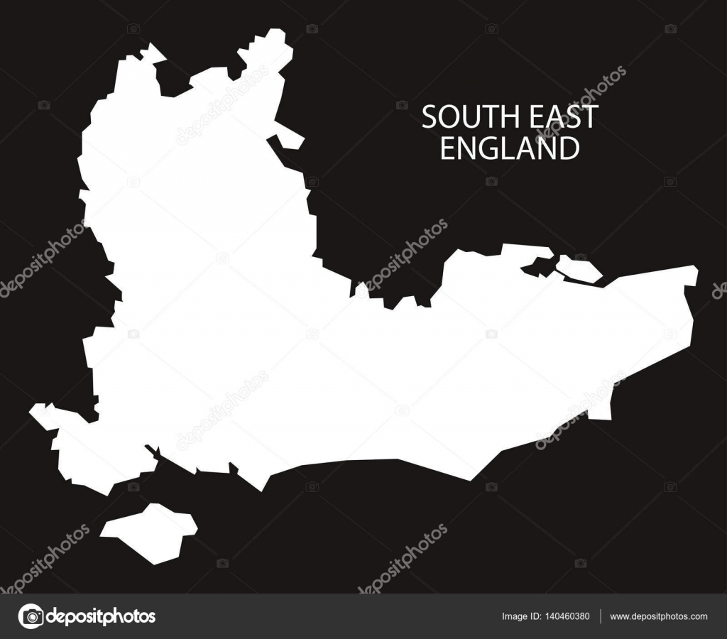 Map Of South East England.South East England Map Black Inverted Stock Vector C Ingomenhard