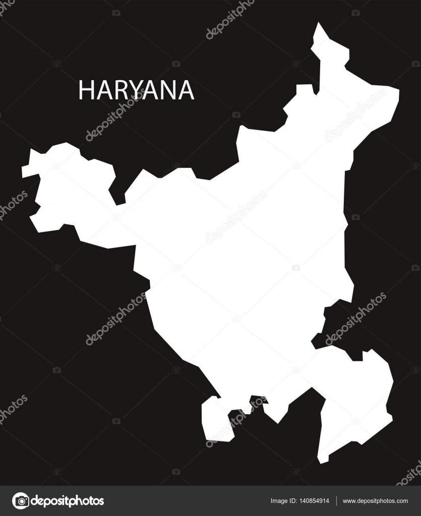 Haryana India Map.Haryana India Map Black Inverted Stock Vector C Ingomenhard 140854914